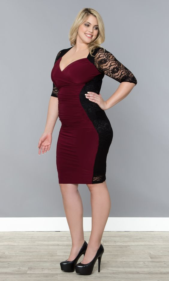 Dresses for hourglass figure plus size