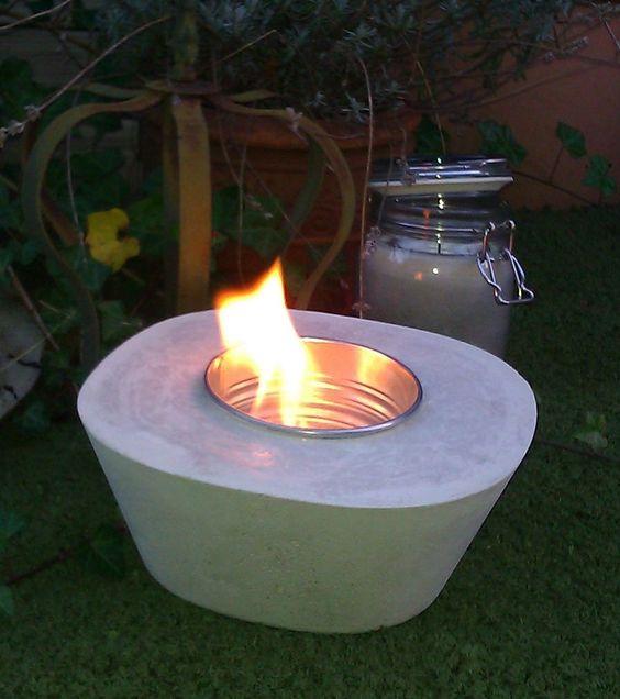 BETON-Feuerschale für Ethanol BETON-Dekoration für Garten - feuerschale im garten