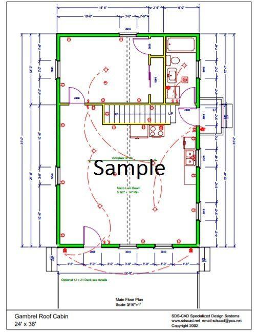24 X 36 Gambrel Roof Cabin Gambrel Roof Gambrel House Plans