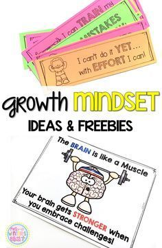 Free Growth Mindset resources, activities, and ideas perfect to teach students the difference between a fixed and growth mindset.