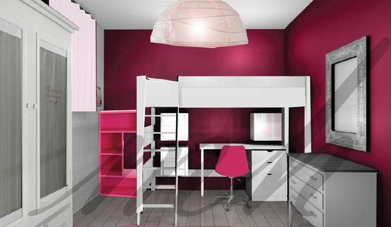 Couleurs plus flashy dans la decoration de chambre de - Chambre couleur framboise ...