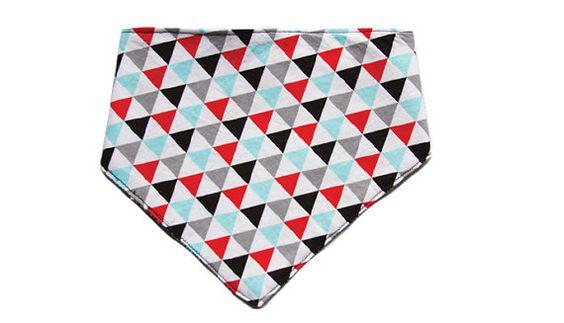 Flags & Black Weave Bandana Bib FREE SHIPPING by SlyfoxThreads, $15.00