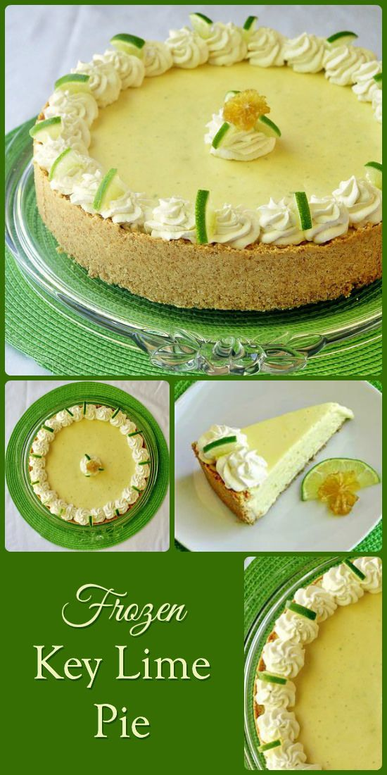 Frozen key lime pie, Key lime pie and Lime pie on Pinterest