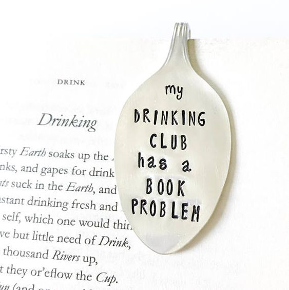 That. we. do - Book Club Gift. Spoon Bookmark. My Drinking Club has a Book #etsy (affiliate)