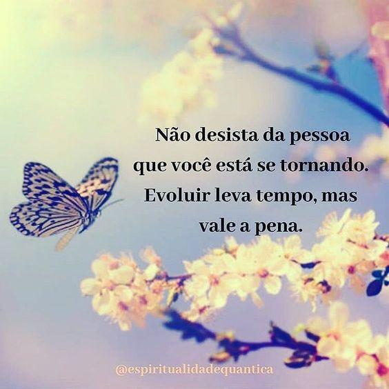 Não desista da pessoa que você está se tornando…