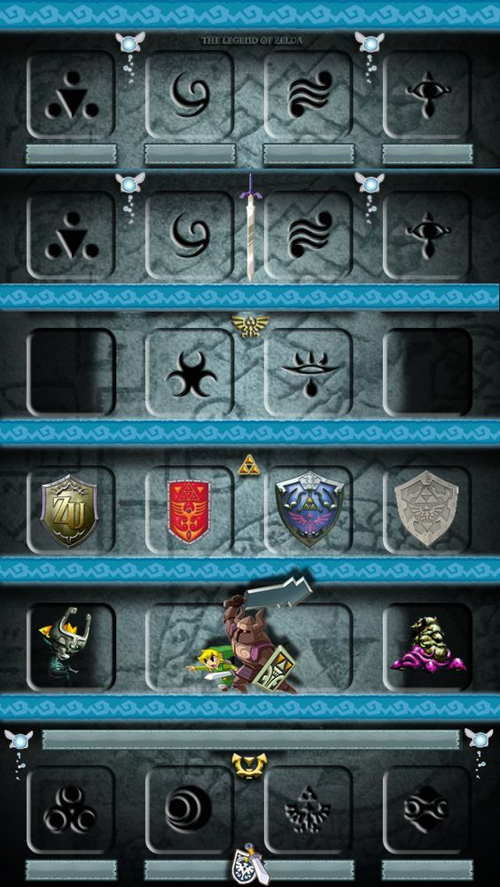 Legend of Zelda iPhone 5 Shelf Wallpaper Iphone 5/5s