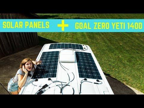 Flexible Solar Panels Goal Zero Yeti Transit Off Grid Diy Van Conversion Youtube Flexible Solar Panels Diy Van Conversions Solar Panels