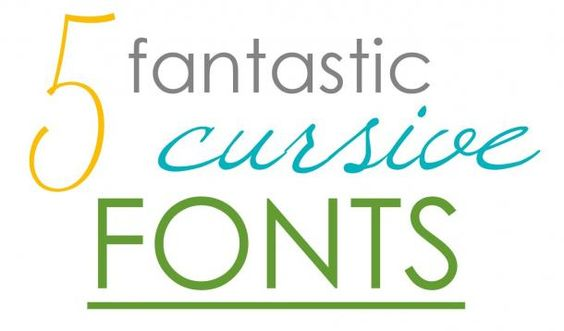 We cursive the person who created Comic Sans. Use one of these five pretty fonts instead.