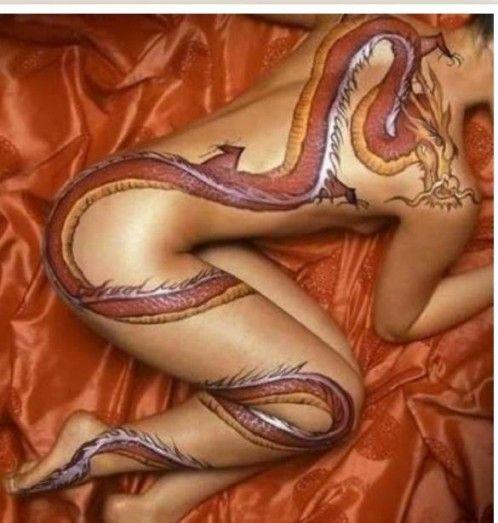 Sexy Naked Body Tattoos 39