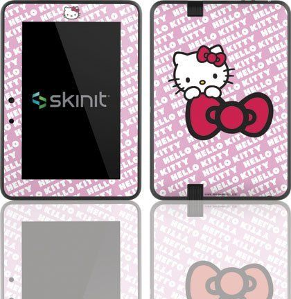 Skinit Hello Kitty Pink Bow Peek Vinyl Skin for Amazon Kindle Fire HD 7 by Skinit. $19.99. IMPORTANT: Skinit skins, stickers, decals are NOT A CASE. Our skins are VINYL SKINS that allow you to personalize and protect your device with form-fitting skins. Our adhesive backing can be applied and removed with no residue, no mess and no fuss. Skinit skins are engineered specific to each device to take into account buttons, indicator lights, speakers, unique curvature and wi...