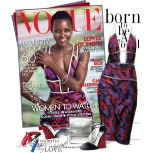 Lupita Nyong'o for Vogue in Prada F/W 2014