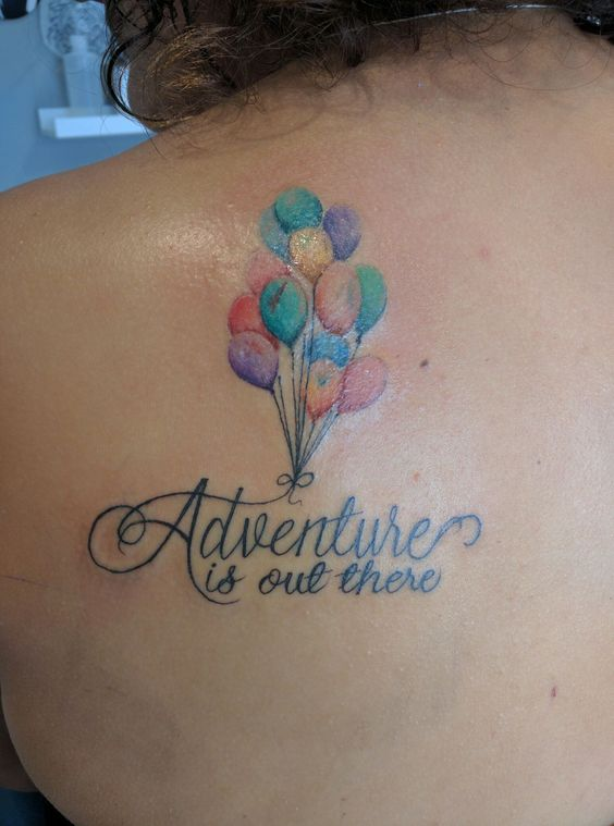 Bespoke r tattoo and custom tattoo on pinterest for Adventure is out there tattoo