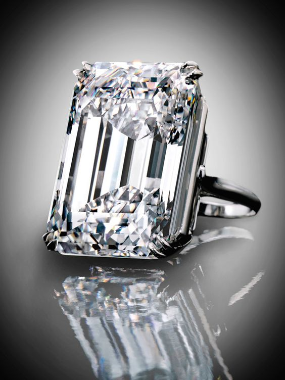 A spectacular emerald-cut diamond, 100.20-carat, type IIa diamond. Its D colour and internally flawless clarity are exceptionally rare at this scale. | Sotheby's