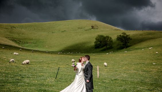 Farm wedding reception on the South Downs in Lewes.