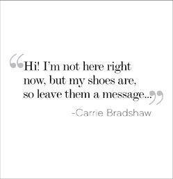 Inspiration from Carrie Bradshaw