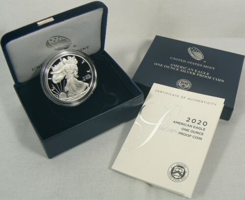 2020 W Silver Proof American Eagle 1 Oz Coin With Ogp Coa Ready To Ship In 2020 Silver Eagles American Silver Eagle American Eagle