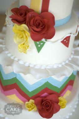 Cinco de Mayo Wedding Cake www.apieceofcake.com