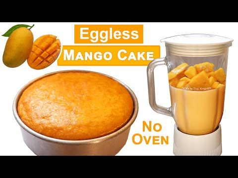Mango Cake Eggless Mango Cake Without Oven Butter Paper Cream Condensed Milk Butter Curd Youtube In 2020 Mango Cake Condensed Milk Recipes Milk Recipes