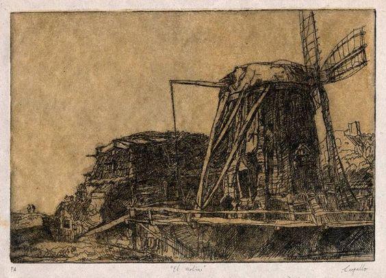 El molino después de Rembrandt