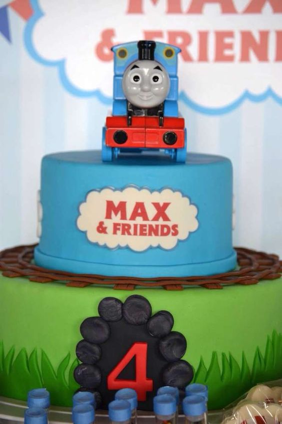 Thomas the Train Birthday Party cake!  See more party ideas at CatchMyParty.com!