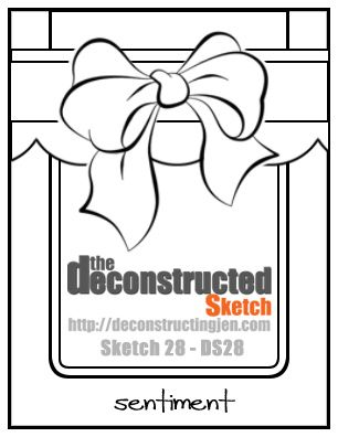 Deconstructed sketch no. 28. #cards #sketch #card_making #scrapbooking