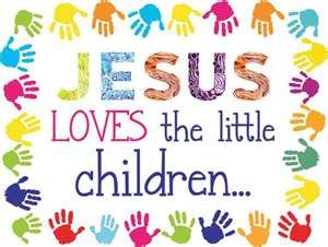 Jesus loves the little children Make this poster for classroom decoration