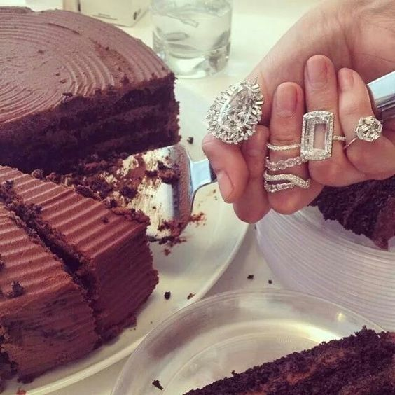 Have your cake and eat it wearing some serious bling of course!