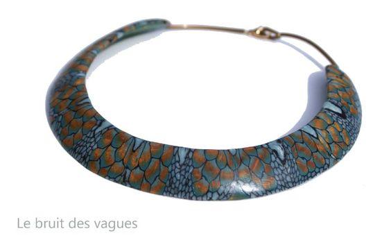 2012-065Collier Le Bruit Des Vagues en polymère