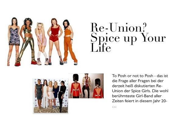 Re-Union? Spice up Your Life
