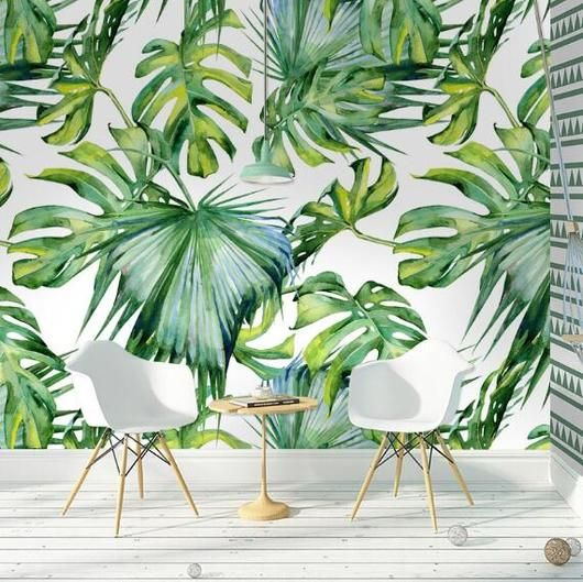 Nature Decor Wall Decor Fashion Garden Mural Wallpaper Beautiful Natural Decor Nature Inspired Desi Green Leaf Wallpaper Garden Mural Wallpaper Living Room