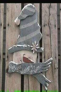 Country Primitive Wood Patterns   Warm Winter Wishes Snowman Wood Craft Pattern