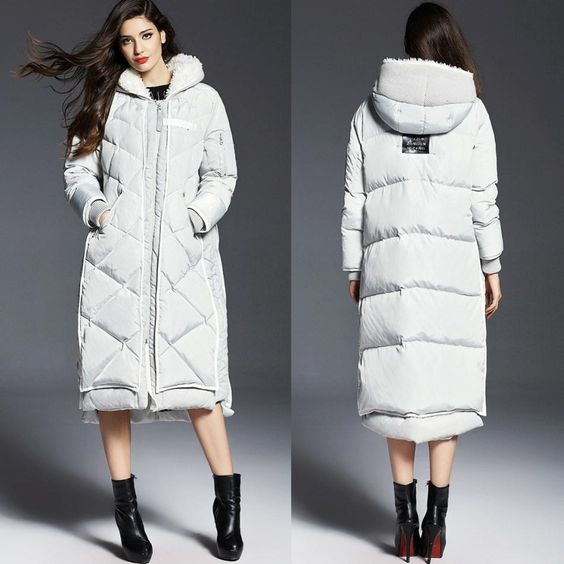 winter-women-down-coat-hooded | Down Coat | Pinterest | Coats