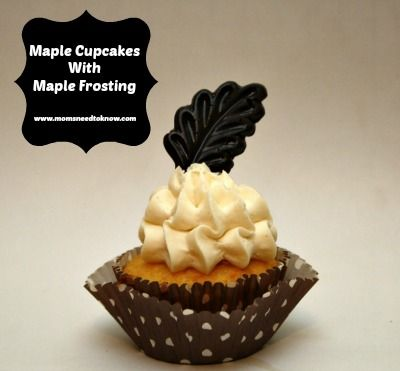 Maple Cupcakes With Sweet Maple Frosting | Fall Cupcake Idea