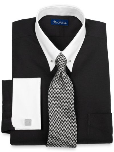 Shops french and shirts on pinterest for Pin collar shirt double cuff