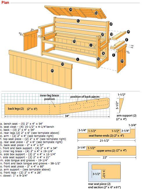 Storage Bench Plans Outdoor Storage Bench Diy Storage Bench Wood Storage Bench