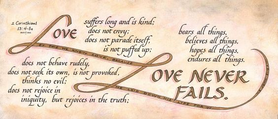 Calligraphy for Christ - I Corinthians 13