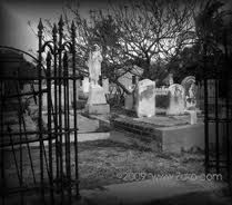 the haunted Key West cemetery