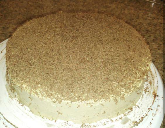 Torta fria de chocolate con crema de moka