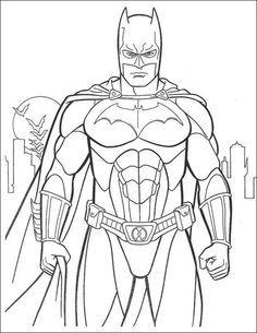 Batman Coloring Pages For Kids สม ดระบายส แบทแมน ขาวดำ