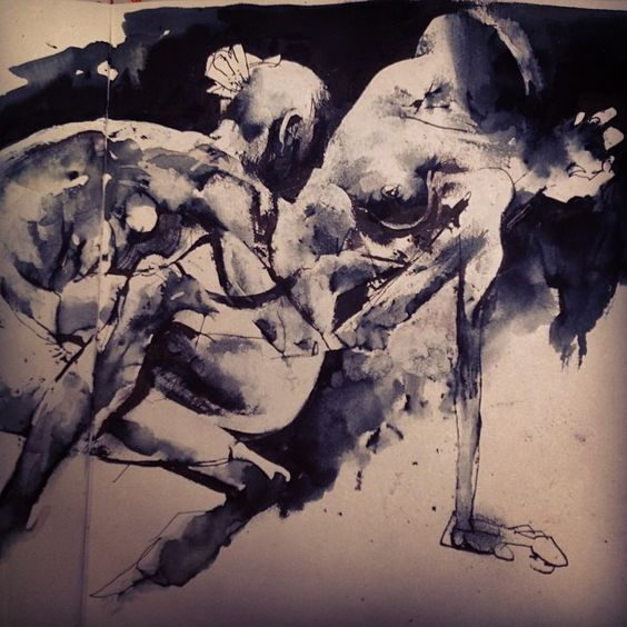 Playing with ink #sketchbook #needmoreink #jasonshawnalexander