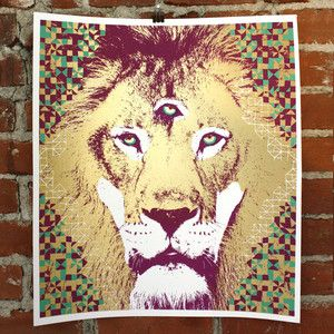 Lion Print 18x20 now featured on Fab.