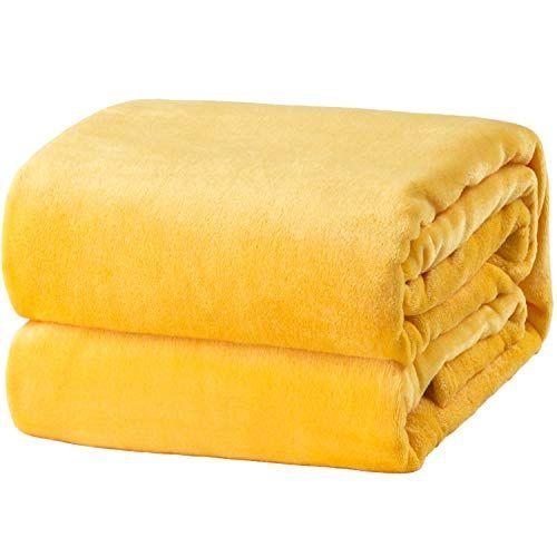 Bedsure Flannel Fleece Luxury Blanket Yellow Lightweight Https Www Amazon Com Dp B07gslqzy2 Ref Cm Microfiber Blanket Microfiber Sofa Lightweight Blanket