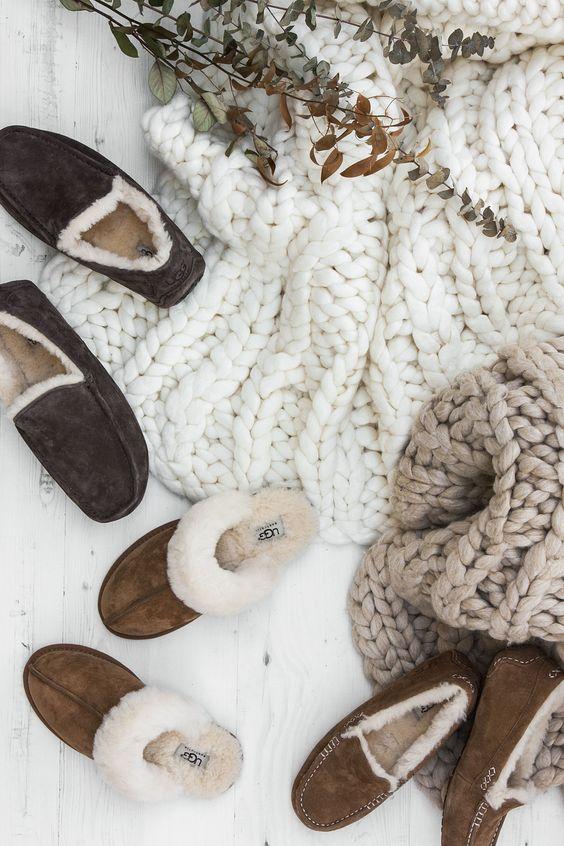AMARA.COM || UGG, slippers, sheepskin, luxury, loungewear