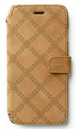 ZENUS VINTAGE QUILT DIARY FOR IPHONE6  $59.99 Zenus Vintage Quilt Diary is made with high quality nubuck leather. If you want a real wallet that is also a superb case for your iPhone or Android, buy Zenus.