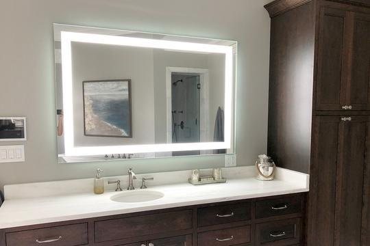 Front Lighted Led Bathroom Vanity, 40 X 60 Vanity Mirror