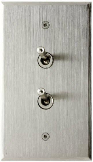 interrupteur levier finition m tal acier bross 70. Black Bedroom Furniture Sets. Home Design Ideas