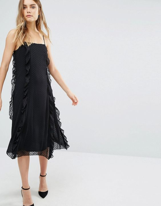 Image 4 ofWarehouse Strappy Frill Dress