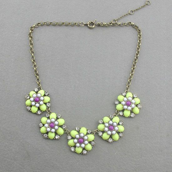 Apple Green Statement Vintage Chunky Bubble by Nianiacollection, $15.00