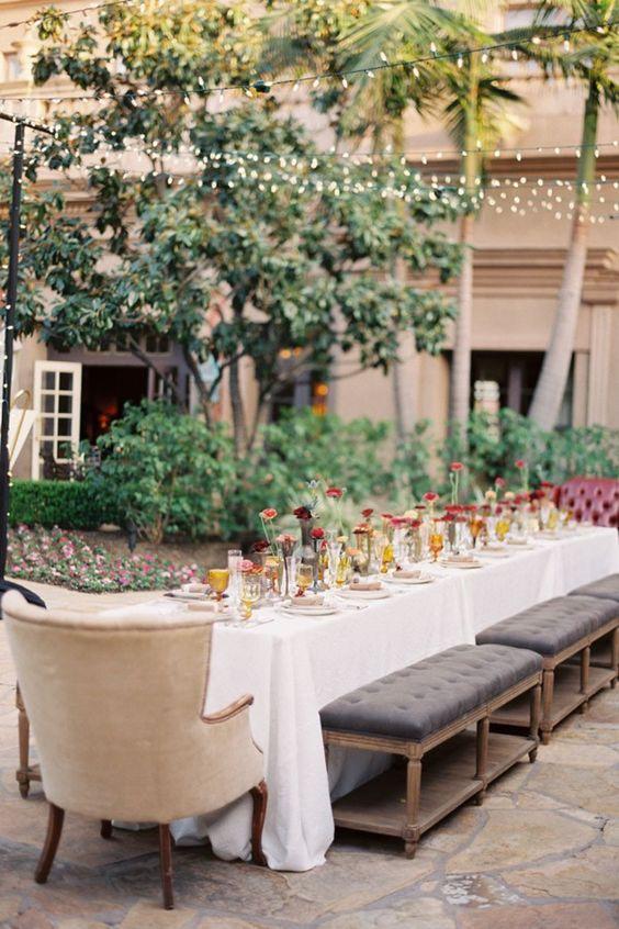 outdoor dining :: string lights