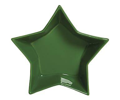 Travessa Estrela Funny Colors Verde - 12X12cm